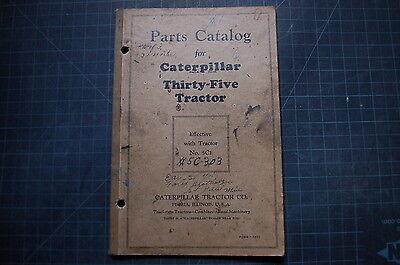 Cat Caterpillar Thirty Five 35 Tractor Dozer Crawler Part Manual Book Vintage 5c
