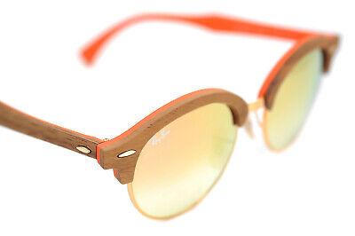 Ray-ban Clubround Holz RB4246M 1218/7O 51mm Sonnenbrille Orange Kupfer Flash