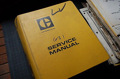 Cat Caterpillar 631 633 Tractor Scraper Repair Shop Owner Service Manual Book