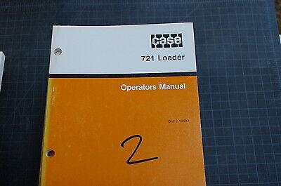 Case 721 Front End Wheel Loader Owner Operator Maintenance Manual Book 1991 User