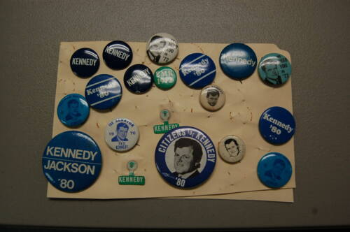 Political Pin/Button Lot of 19   Ted Kennedy for President and Senator