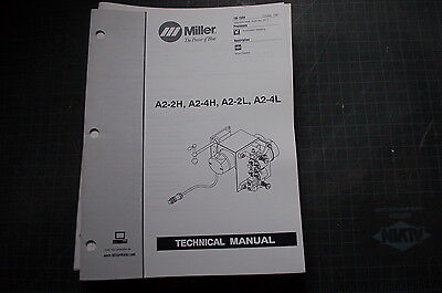 Miller Welder A2-dh 4h 2l 4l Weld Owner Service Repair Parts Manual Book Tig Mig
