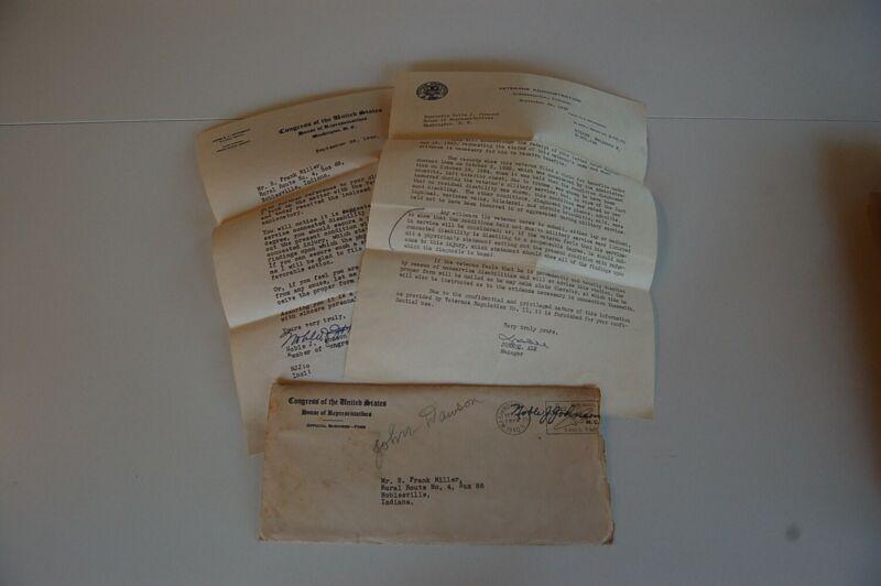 1940 Congressman Noble Johnson Signed Letter - Indiana