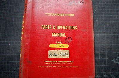 Towmotor G20 Forklift Service Operator Parts Manual Book Operation Guide Owner