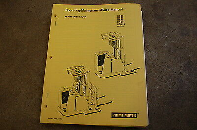 Bt Prime Mover Rs Rr 20 30 40 25 Owner Operator Maintenance Parts Manual Truck