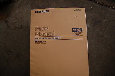 Cat Caterpillar Pm3508 Power Module Parts Manual Book Catalog Spare List Index