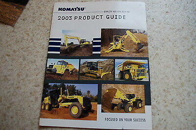 Komatsu 2003 Excavator Crawler Trackhoe Dealer Sales Brochure Product Guide Book