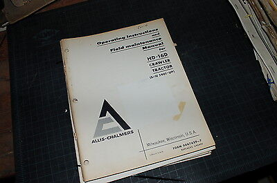 Allis Chalmers Hd-16d Tractor Crawler Dozer Owner Operator Operation Manual Book