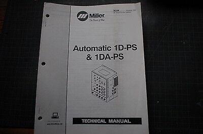 Miller Welder 1dps 1daps Generator Owner Service Repair Parts Manual Book Owner