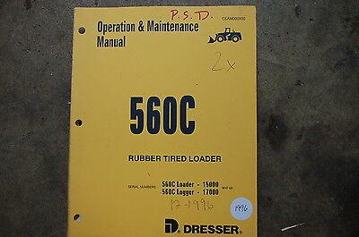 Dresser 560c Front End Wheel Loader Owner Operator Operation Maintenance Manual