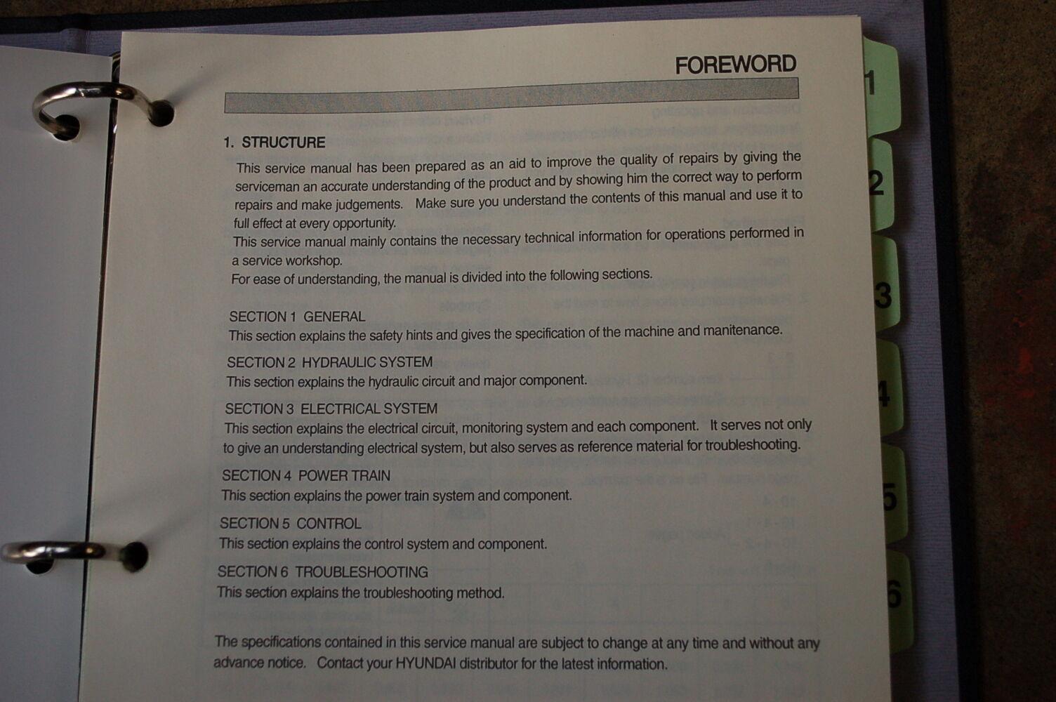 2 of 11 HYUNDAI HSL 800-7 Skid Steer Loader Service Manual book repair  overhaul shop 3 of 11 HYUNDAI ...