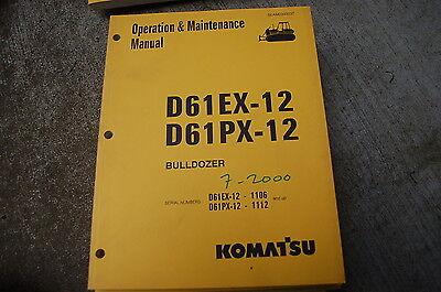 Komatsu D61ex D61px-12 Tractor Owner Operator Operation Maintenance Manual Dozer