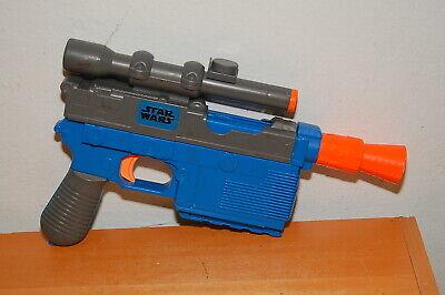 Nerf Star Wars Force Awakens Han Solo Blaster Dart Gun Disney Hasbro Blue
