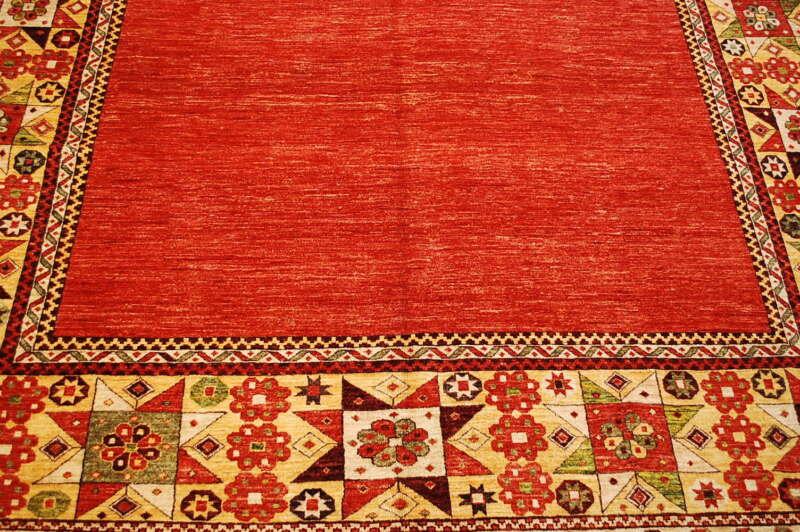 Antique One Of A Kind Caucasian Kazak Design Afghan Chobi Rug 8x10 Vegy Dye