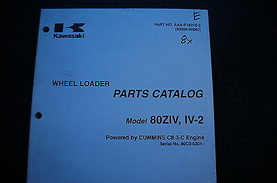 Kawasaki 80z-iv-2 Rubber Tire Wheel Loader Parts Manual Book Catalog Shop Owner