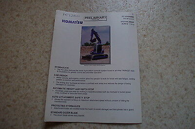 Komatsu Pc128 Excavator Crawler Trackhoe Dealer Sales Brochure Catalog Vintage