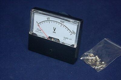 Dc 150v Analog Voltmeter Panel Voltage Meter Dc 0-150v 6070mm Directly Connect