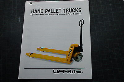 Hand Pallet Lift - LIFT RITE HAND PALLET TRUCK Owner Operator Manual book operation user safety