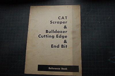 Cat Caterpillar Scraper Dozer Crawler Tractor Cutting Edge End Bit Parts Manual