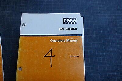 Case 821 Front End Wheel Loader Owner Operator Maintenance Manual Book 1991 User