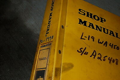 Komatsu Wa450-2 Front End Wheel Loader Repair Service Manual Book 1990 Dresser
