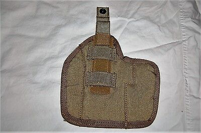 USGI  LEFT HAND HRH-L-226-MS-KH HIGH RIDE HOLSTER KHAKI 9MM MOLLE II MILITARY