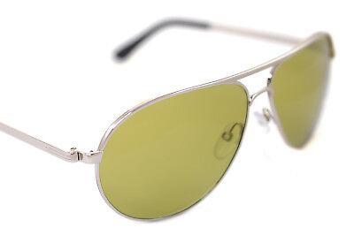 c77bc6a8103 TOM FORD MARKO JAMES BOND SKYFALL TF144 18N 58mm Sunglasses RHODIUM SILVER  GREEN
