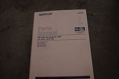 Cat Caterpillar 3512b Generator Set Oil Field Land Rig Parts Manual Book Catalog