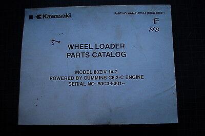 Kawasaki 80z-iv-2 Rubber Tire Wheel Loader Parts Manual Book Catalog Factory Pay