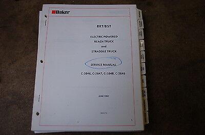 Baker Otis Brt Bst Reach Straddle Lift Truck Forklift Service Repair Manual Book