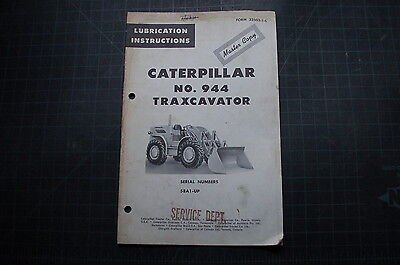 Cat Caterpillar 944 Front End Wheel Loader Owner Lubrication Manual Book Guide