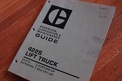 Caterpillar 422s Forklift Maintenance Manual Owner Guide Book Towmotor Truck Oem