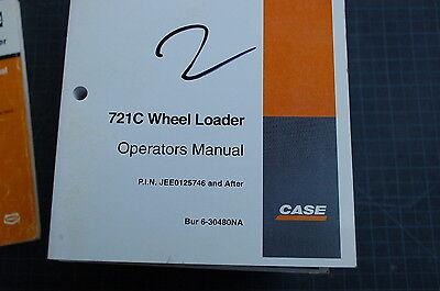 Case 721c Front End Wheel Loader Owner Operator Maintenance Manual Book 2001 Use