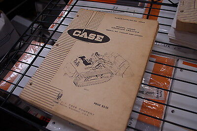 Case Model 1000d Crawler Tractor Bulldozer Spare Parts Manual Book Catalog 1971