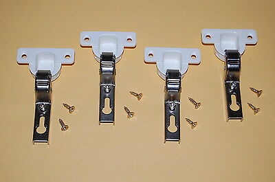 4 Mini Euro 26mm Concealed Inset Self Closing Hinges: Kitchen Cupboard -