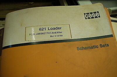Case 621 Wheel Loader Electrical Hydraulic Schematic Set Manual Service Repair