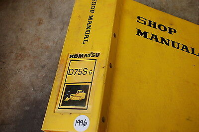 Komatsu D75s 5 Tractor Dozer Crawler Service Manual Book Repair Overhaul Shop