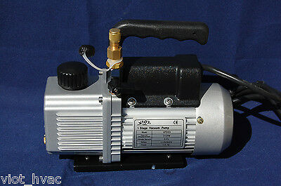 Rotary Vane Vacuum Pump 3cfmbuilt-in Isolationcheck Valve Hvac Tool 29hg