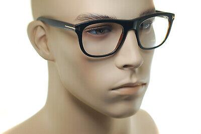 Tom Ford FT5480 001 54mm Herren Medium Square Plastik Brille Rahmen Schwarz Gold