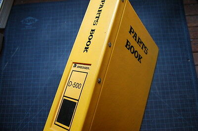 Dresser Hough D500 Wheel Loader Parts Manual Book Shop Catalog Spare Index List