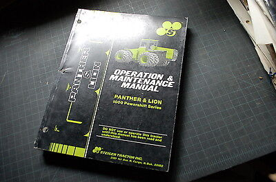Steiger Tractor Panther Lion Owner Operator Operation Maintenance Parts Manual