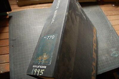 Hyundai Hl770 Front End Wheel Loader Repair Shop Service Manual Book Overhaul