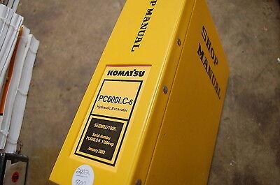 Komatsu Pc600lc 6 Excavator Trackhoe Crawler Service Repair Manual Book Shop