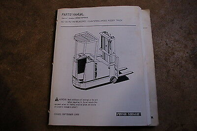 Bt Prime Mover Rc 40 30 Electric Rider Truck Forklift Parts Manual Catalog Book