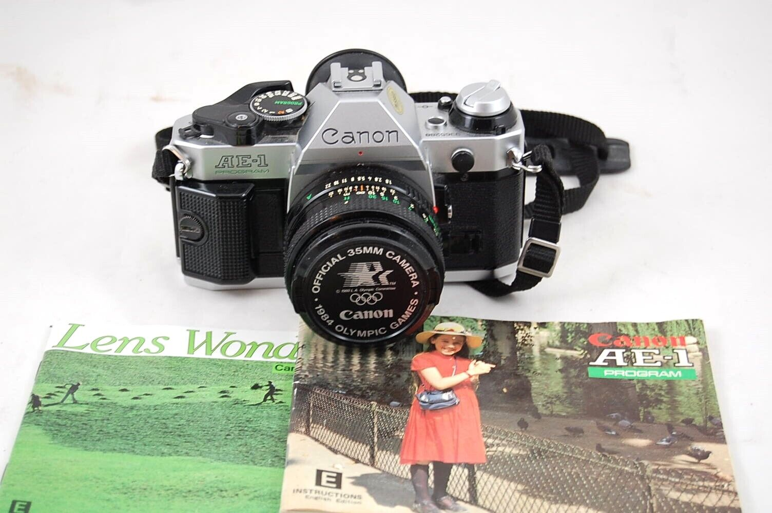 Canon AE-1 Program Official 35mm Camera 1984 Olympic Games With FD 50mm 1.8 Lens - $150.00