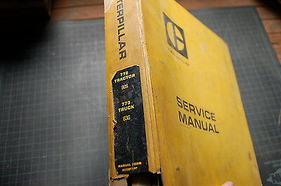 Cat Caterpillar 772 773 Dump Truck Service Manual Repair Rock Book Maintenance
