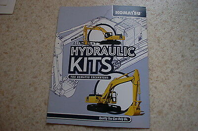 Komatsu Auxiliary Hydraulic Kit Excavator Trackhoe Dealer Sales Brochure Ad Shop