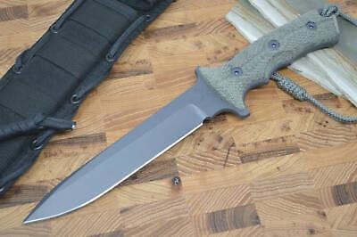 "Chris Reeve Knives Green Beret 7"" Fixed Blade - Plain Edge Blade - Black"