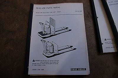 Bt Prime Mover Pe45 R Electric Low Lift Pallet Truck Parts Manual Catalog Book