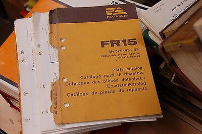 Fiat Allis Fr15 Front End Wheel Loader Spare Parts Manual Book Catalog 1985 List